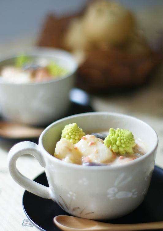 長芋と長ネギの豆乳シチュー