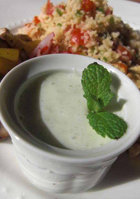 インドの味 ミント入りのヨーグルトソース