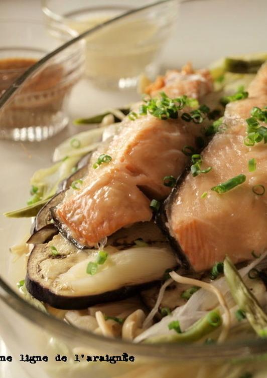 レンジで 柚子胡椒で鮭のちゃんちゃん風