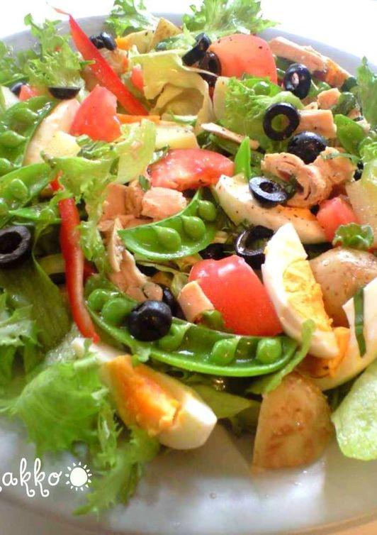 春野菜で ニース風サラダ
