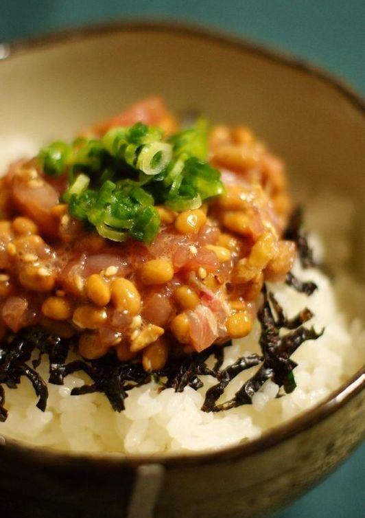 手軽に作れる 納豆まぐろ丼ぶり