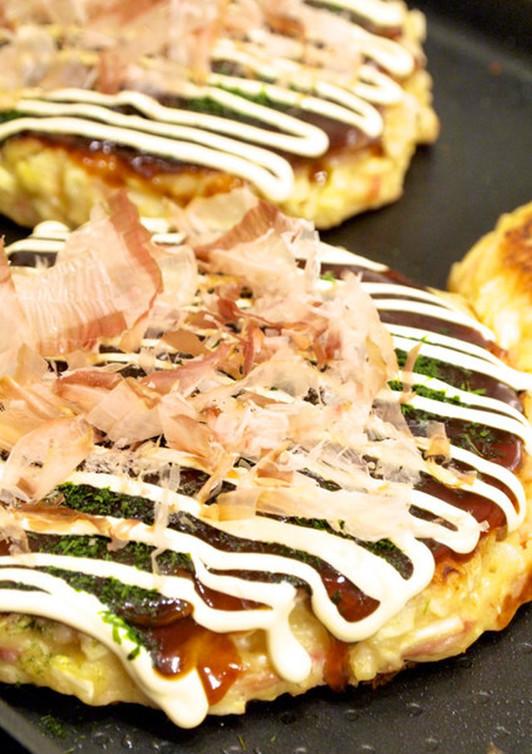 キャベツと長芋で ふんわり関西お好み焼き