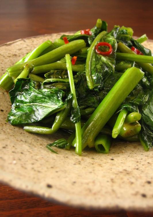 空芯菜の和風な炒め物
