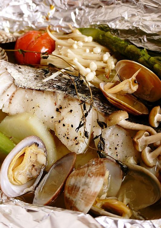 野菜たっぷり 白身魚のホイル焼き