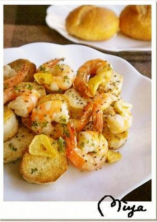 里芋と海老のガーリックソテー