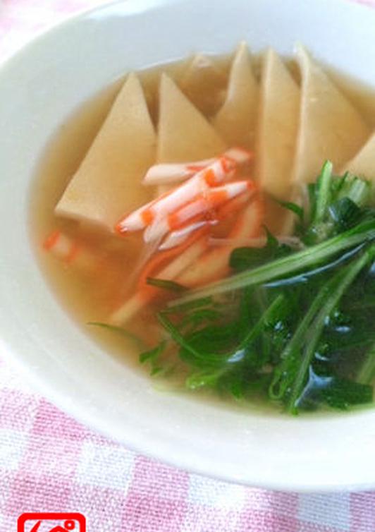 ぺらぺら高野豆腐のとろとろスープ
