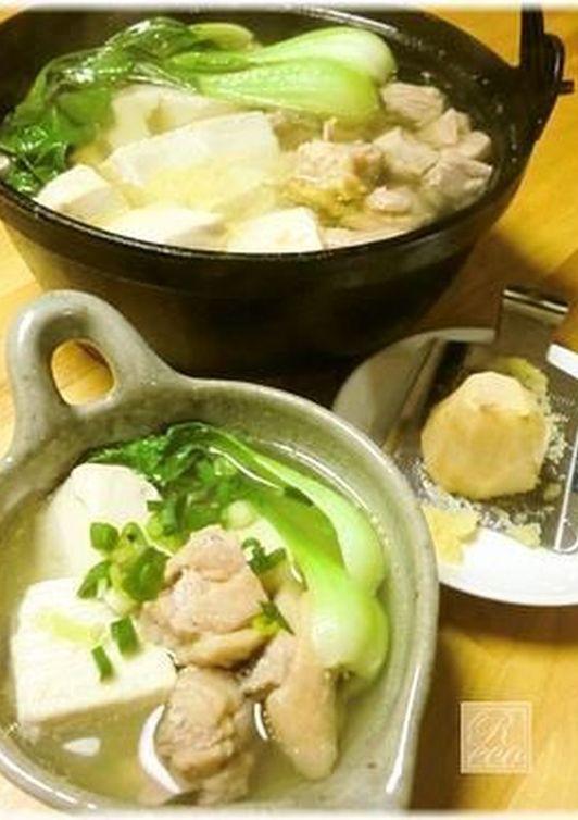 鶏だしスープ 生姜ほっこり湯豆腐鍋