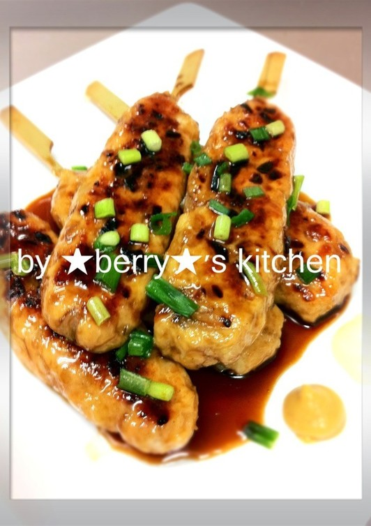 節約レシピ。鶏むね肉でつくねの照り焼き