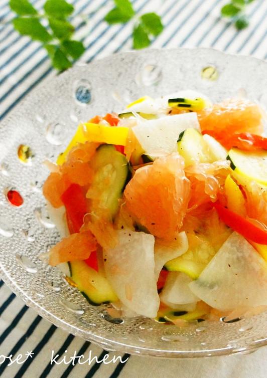 グレープフルーツと大根のさわやかサラダ