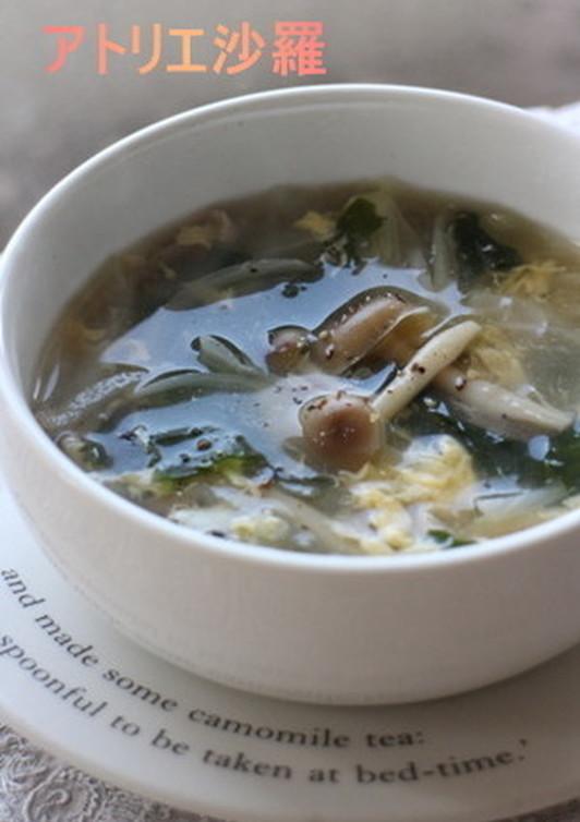 即席 野菜たっぷり中華スープ