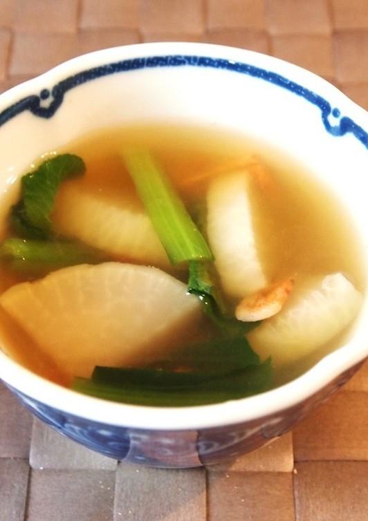 桜えびと大根の中華スープ