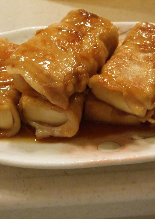 高野豆腐の豚肉巻き 甘辛タレ