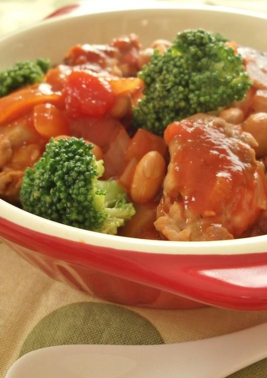 節分に いわしつみれと大豆のトマト煮