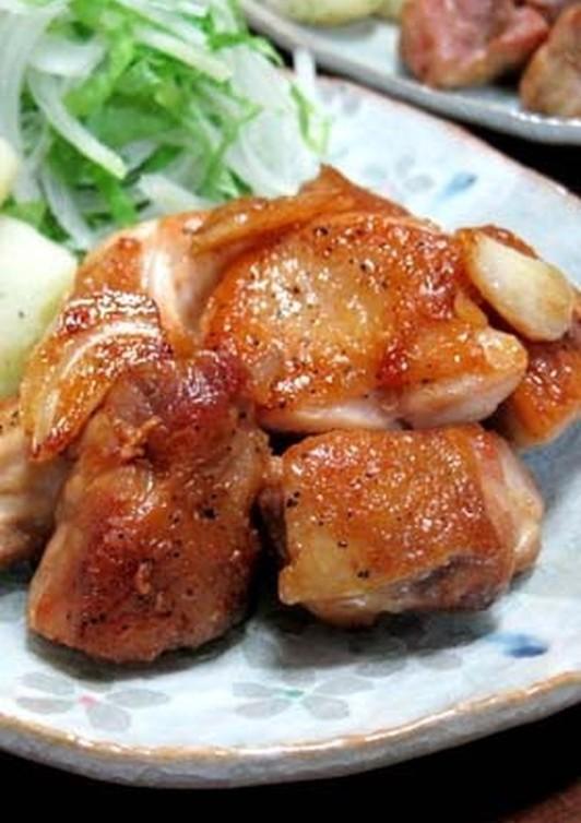 鶏もものニンニクしょうゆ照り焼き