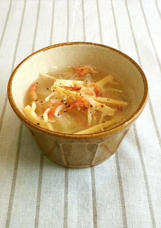 春 筍と桜海老のスープ