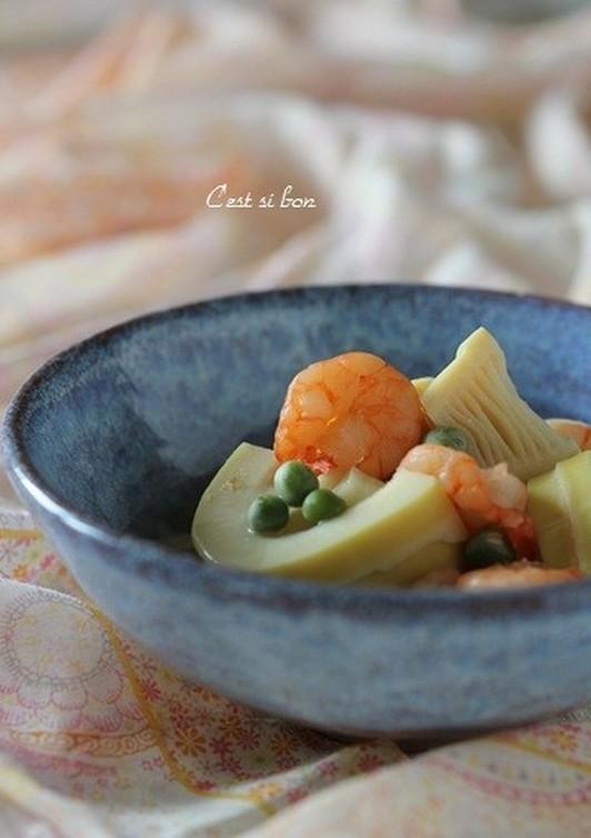 筍と海老とグリーンピースの煮物