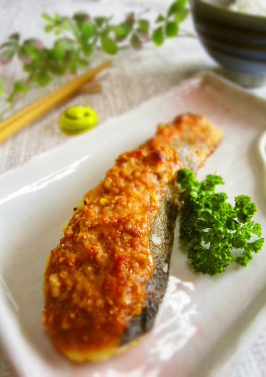 懐かしい味 鱈のネギ味噌焼き