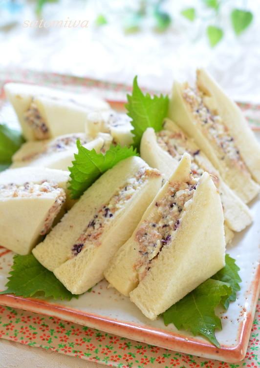 ヘルシー 豆腐ツナのふんわり和風サンド