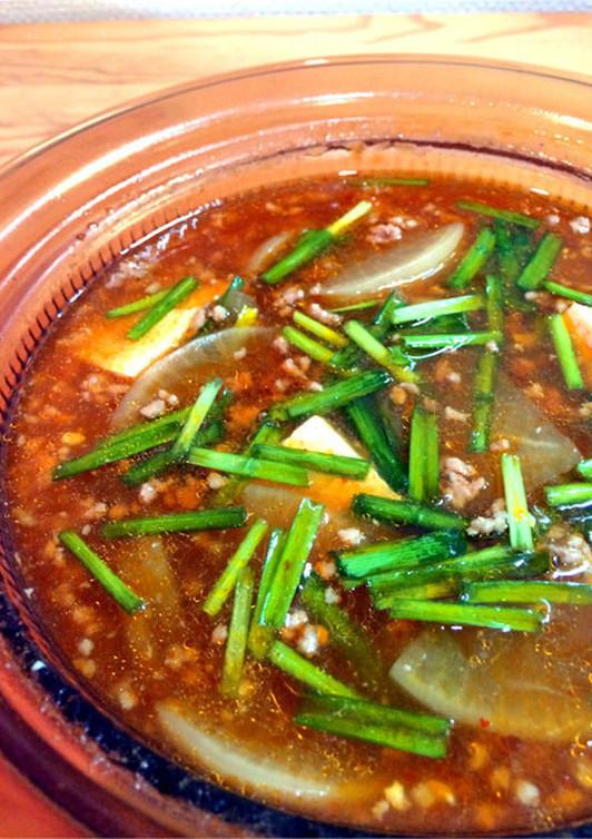 大根たっぷり 豚ひき肉でピリ辛麻婆鍋