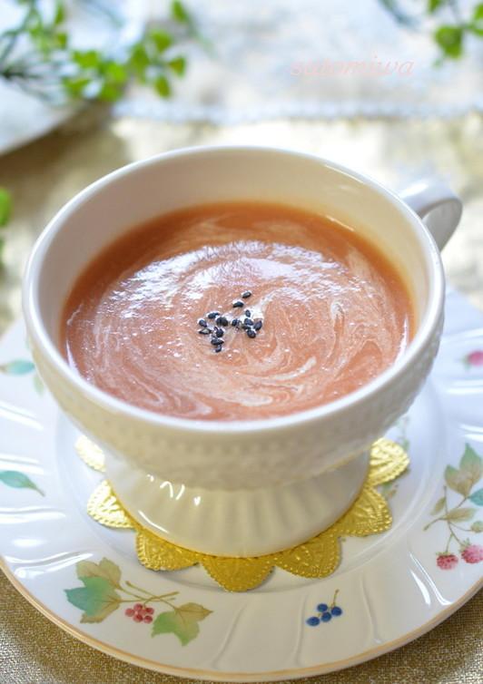 ごぼうとトマトのポタージュスープ