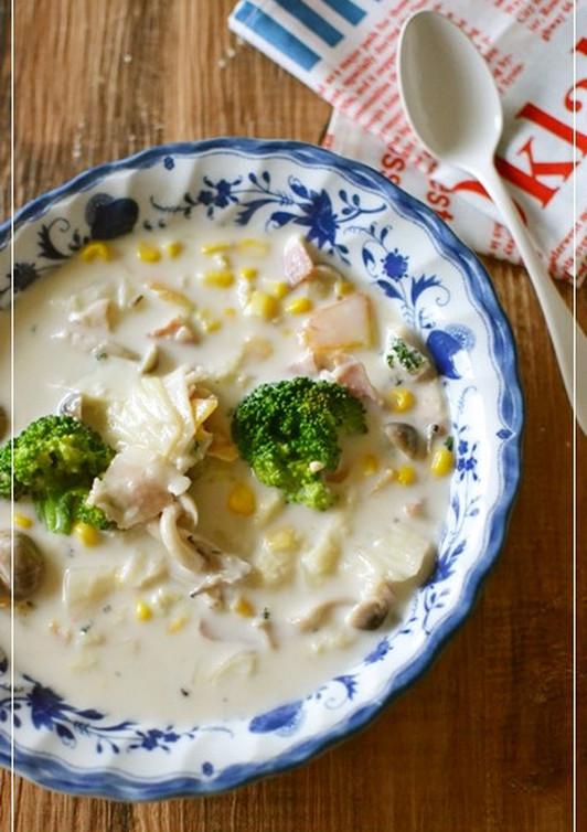 ぽっかぽか 白菜とチーズのクリーム煮