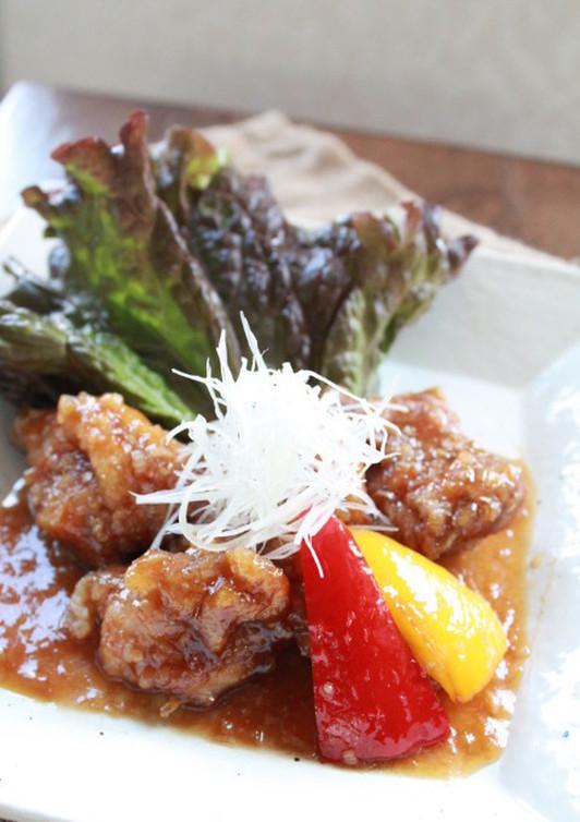 揚げ鶏の甘酢ソース