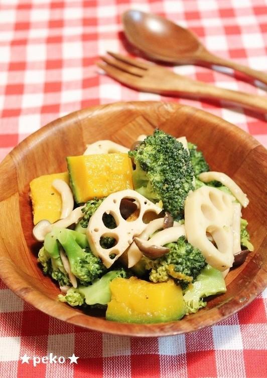 簡単 温野菜のガーリックバタポンサラダ