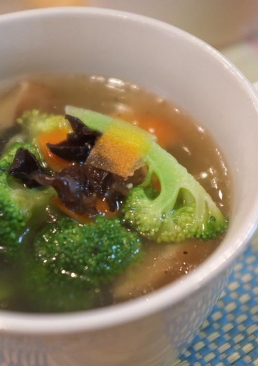 ブロッコリーとキクラゲの中華スープ