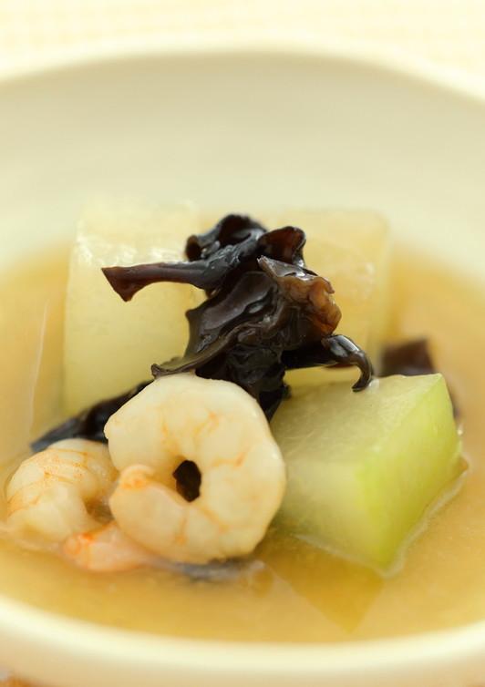 冬瓜とえびの中華風スープ仕立て
