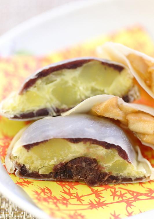 りんごとさつま芋の餃子パイ