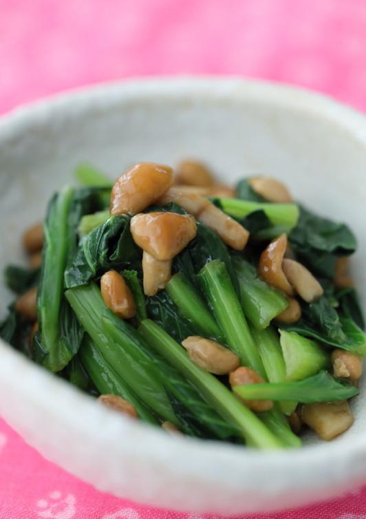 小松菜のネバネバピリッと和え