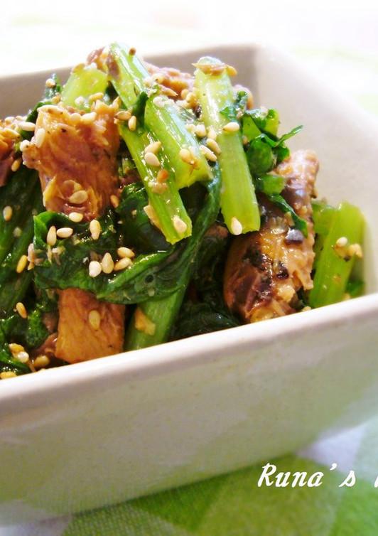 大根菜とさんま缶で簡単ソテー