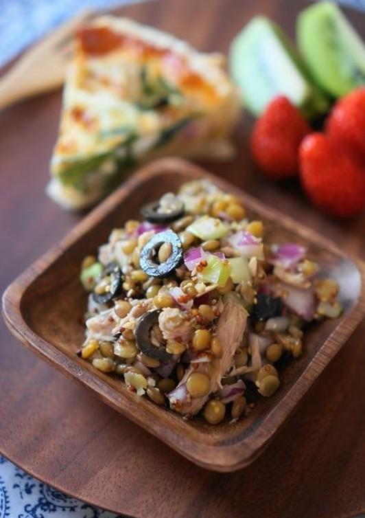 レンズ豆とツナ オリーブのマリネ