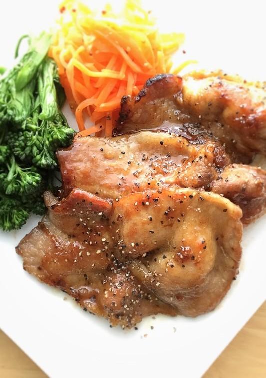豚ロースの甘酢黒胡椒焼き