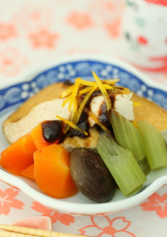 厚揚げとお野菜の炊き合わせ 柚子味噌