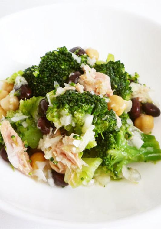 お豆たっぷりツナとブロッコリーのサラダ