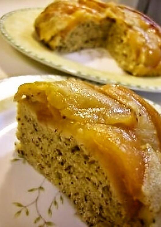 ノンオイル 炊飯器で紅茶アップルケーキ