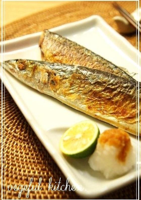失敗なし フライパンで秋刀魚の塩焼き