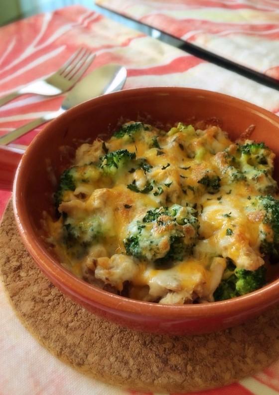 簡単 ツナとブロッコリーのチーズ焼き