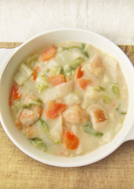 たっぷり白菜と鶏むね肉の中華風クリーム煮 By Moj 管理栄養士監修の