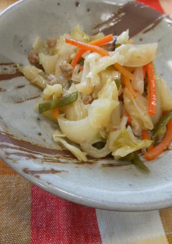 豚肉入りの野菜炒め