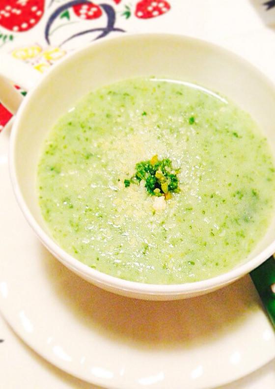 菜の花とジャガイモの豆乳ポタージュ 春旬