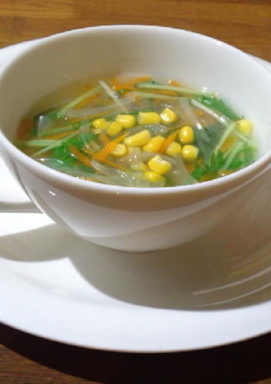 生姜入り春雨スープ