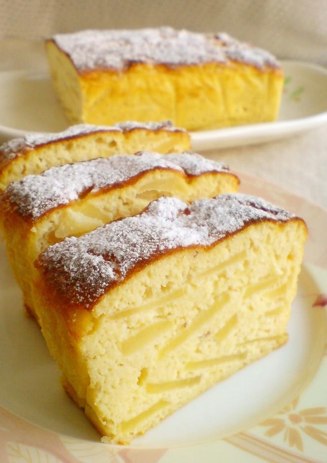 ノンオイル ノン小麦粉 おから林檎ケーキ