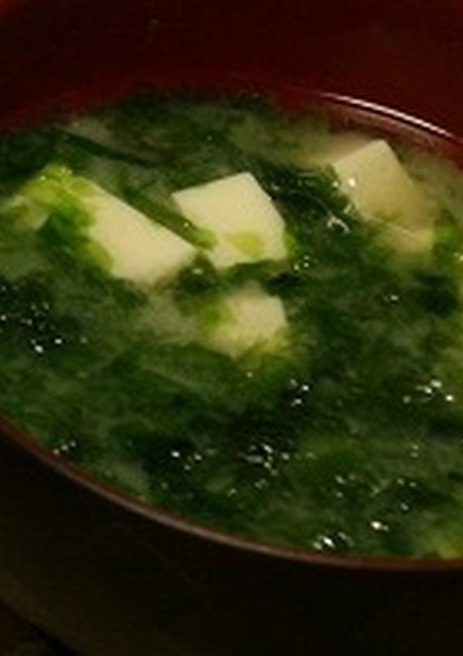 生青のりの味噌汁