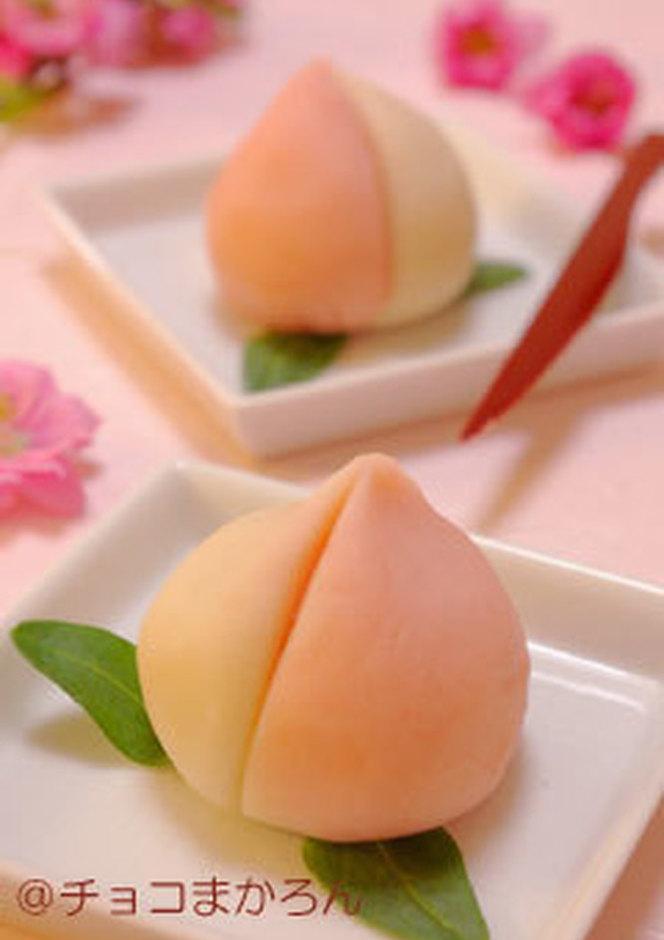 桃ねりきり ひな祭りの簡単和菓子