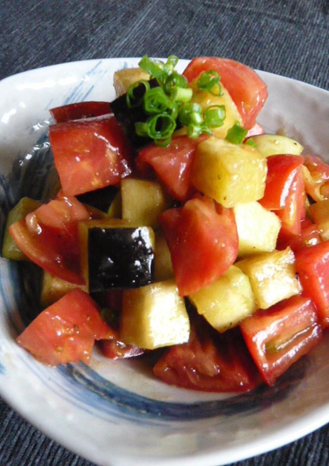 ちょいと一品 水茄子とトマトのオリ醤油