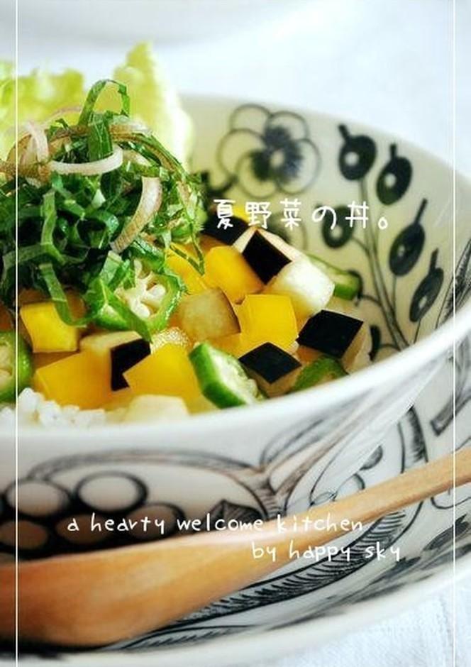 夏野菜の丼