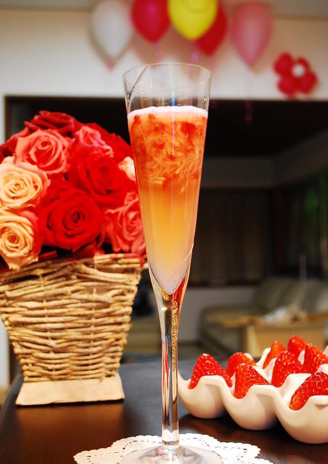 クラッシュ苺のシャンパン風 ノンアルコール
