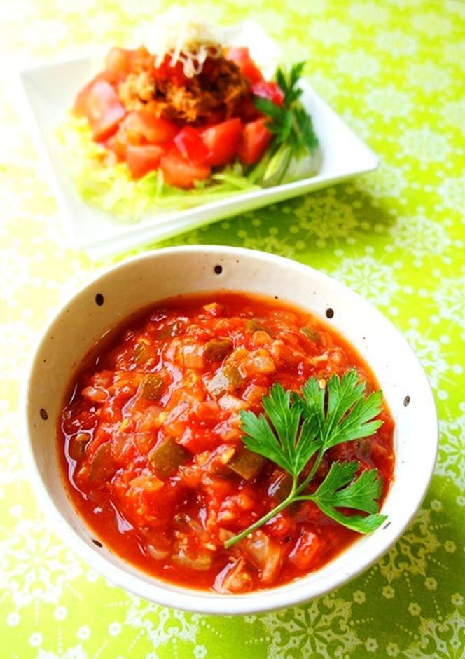 トマト沢山 簡単ピクルス入りサルサソース
